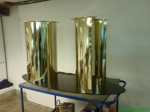 Kongsberg Tynnplate - Interiørmetall Understell bort gullbelagt